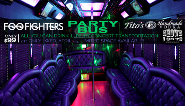 Foo Fighters Party Bus