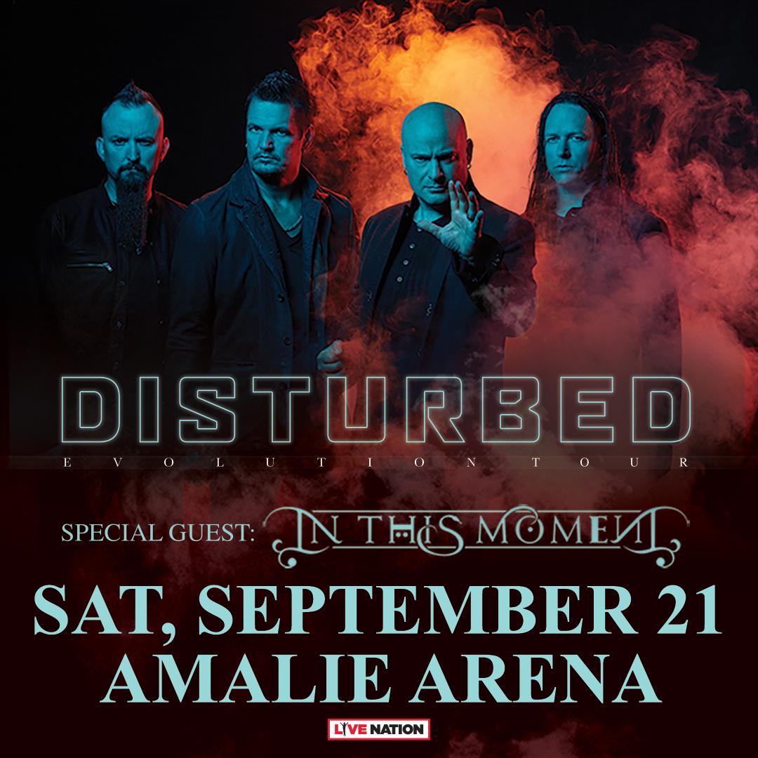 Disturbed Amalie Arena Florida Tour 2019 Tampa
