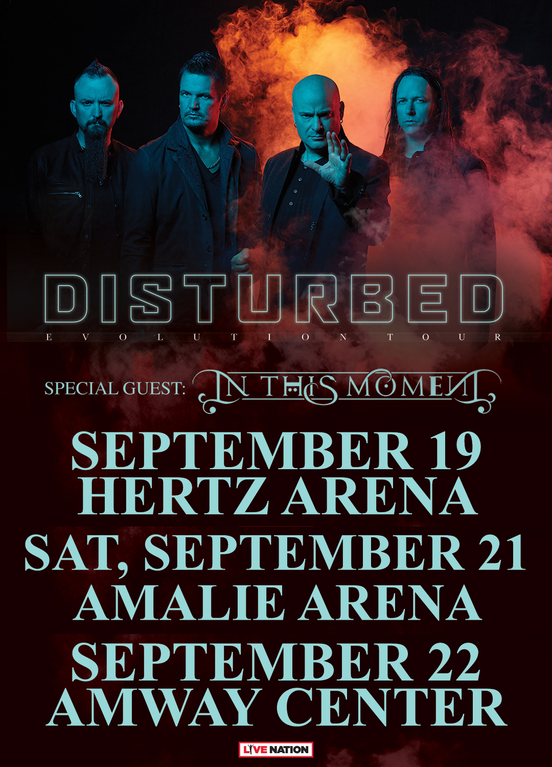 Disturbed-2019 Florida Shows