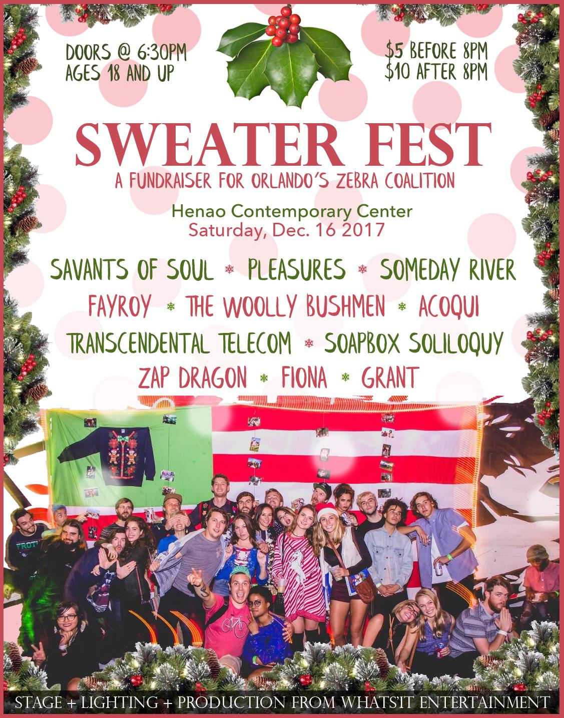 Sweater Fest Orlando 2018 Lineup