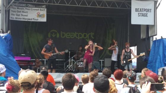 Sleeper Agent Warped Tour 2014 Orlando Live Photo