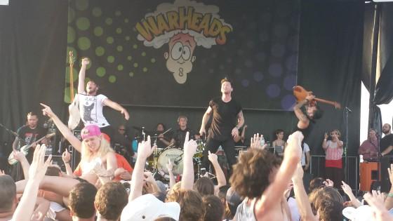 Anberlin Warped Tour 2014 Orlando Live Photo