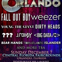 The Big Orlando Festival Pre Sale Password | December 7 2014 | Weezer, Fall Out Boy, Dirty Heads, Young The Giant