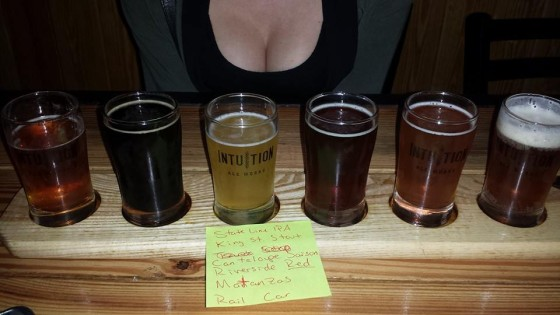 Intuition Brewery Jacksonville FL | Beer Flight