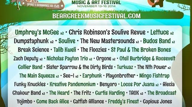 Bear Creek Music Festival Preview 2014