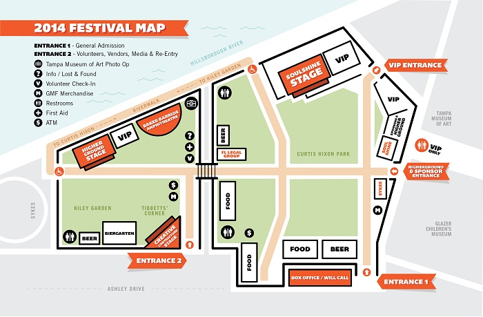 gasparilla music festival site map tampa 2015