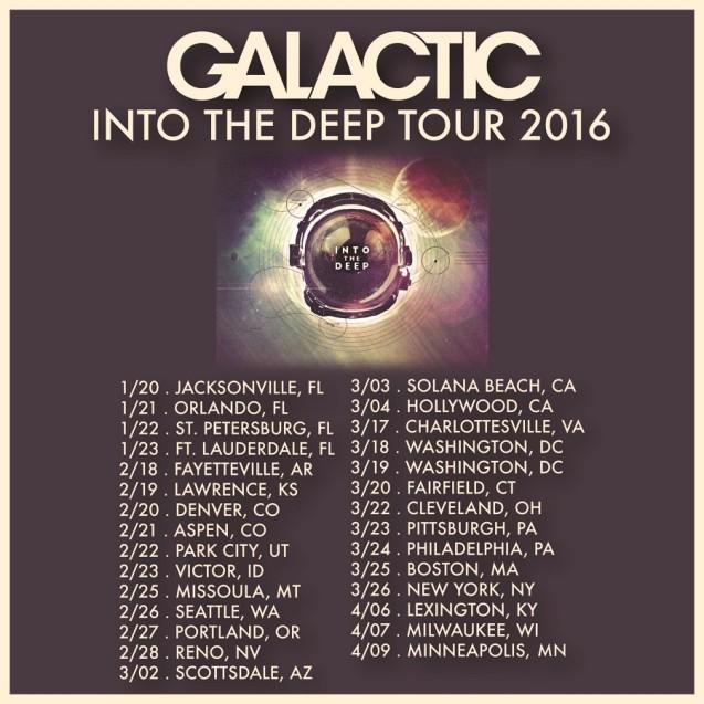 Galactic Tour Dates