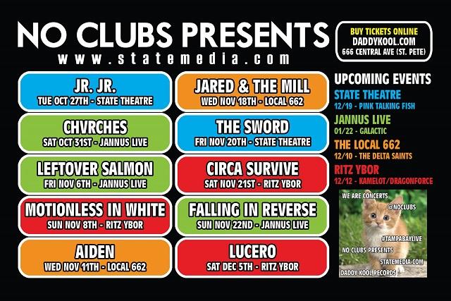 No Clubs Flyer November