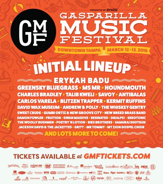 Gasparilla Music Fest 2016 Lineup