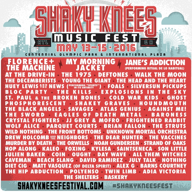shaky knees lineup 2016