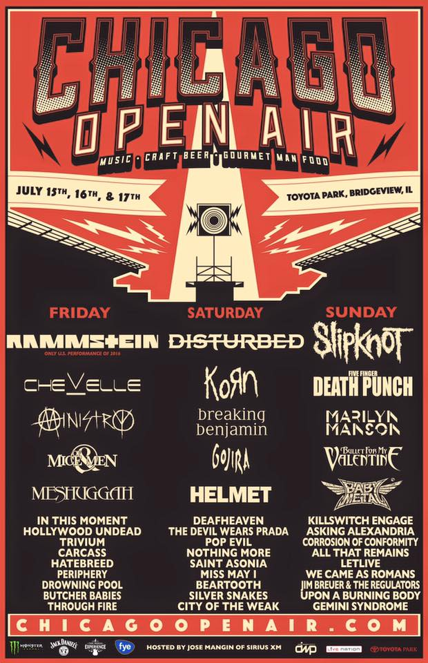 Chicago Open Air Lineup 2016