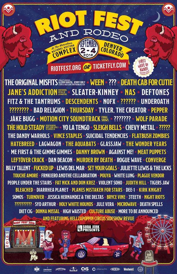 riot fest 2016 lineup dever