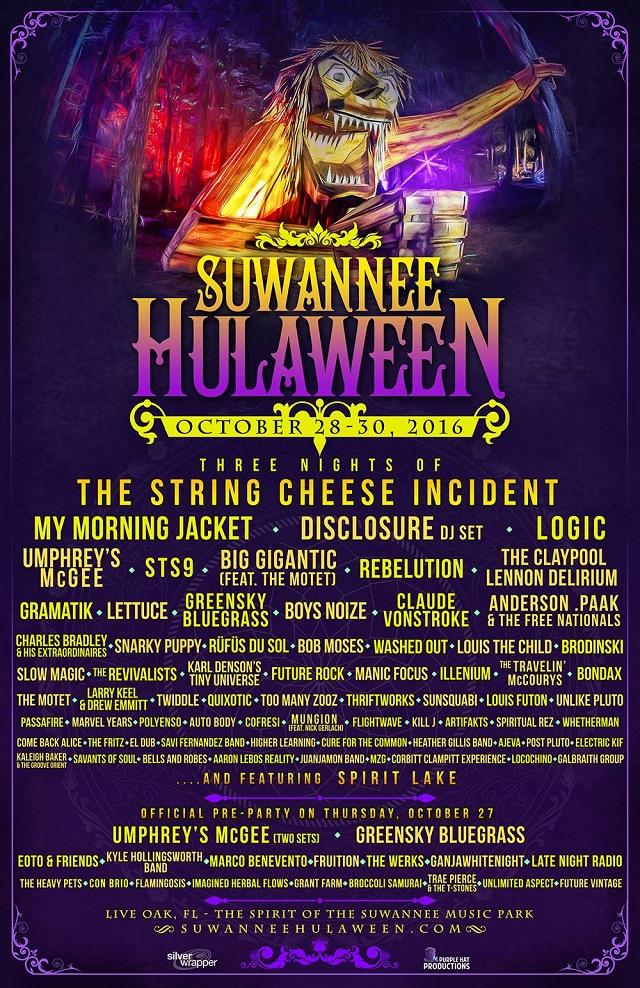 Suwannee Hulaween Lineup 2016