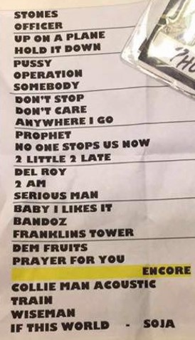 Slightly Stoopid | Setlist - Cocoa, FL | 8/12/2016