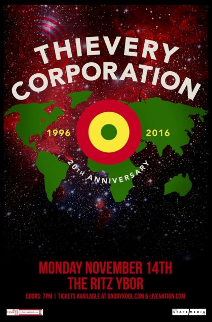 Thievery Corporation Flyer Tampa