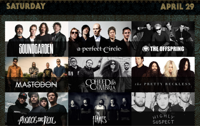 Rockville 2017 Saturday Lineup