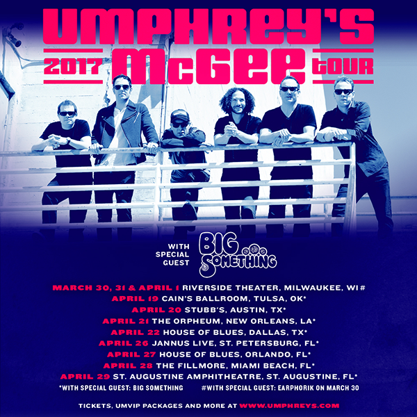 Umphrey's McGee Winter Spring Tour 2017