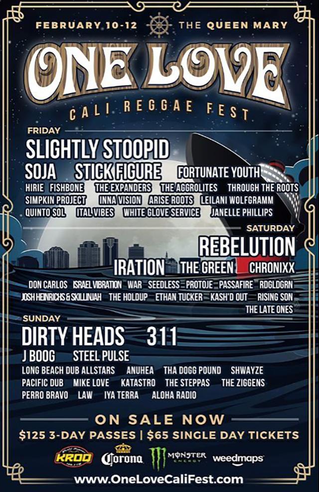 One Love Cali Fest 2017 Lineup