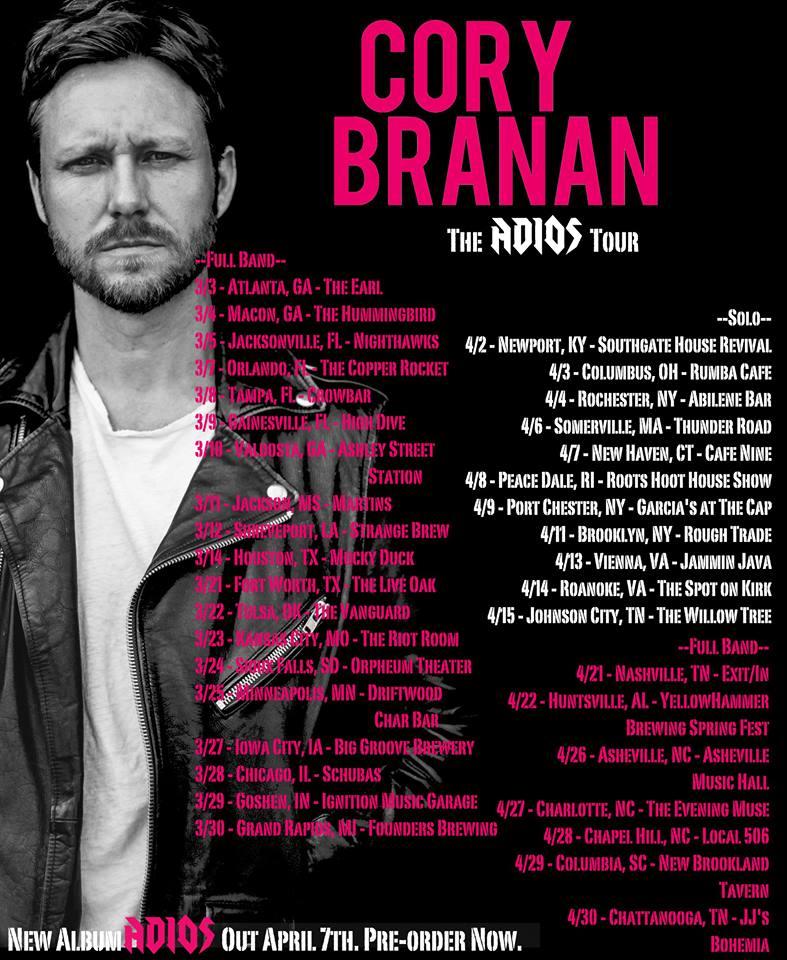 Cory Branan Tour Dates 2017