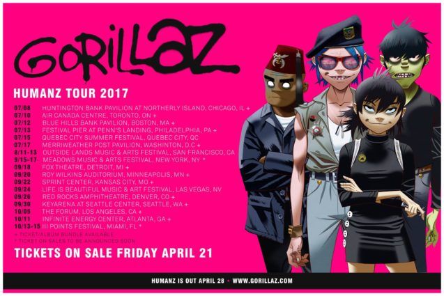 Gorillaz 2017 Tour Announcement