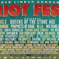 Riot Fest 2017 Lineup Announcment