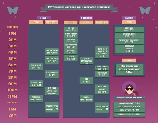 Purple Hatter's Ball 2017 Schedule
