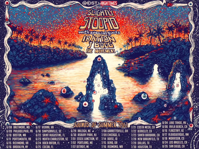 Slightly Stoopid, Sounds of Summer Tour 2017, Iration, J Boog, The Movement