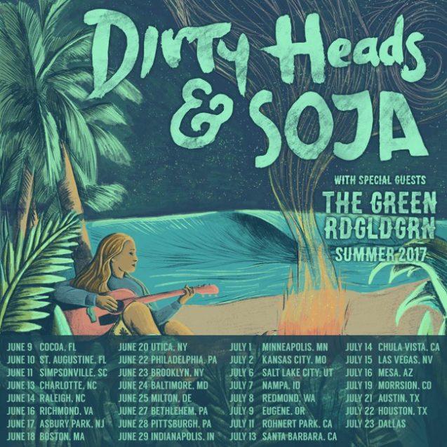 Dirty Heads, SOJA, The Green, and RDGLDGRN - Summer Tour 2017