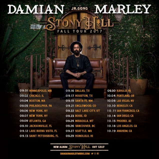 Damian Marley Tour Poster