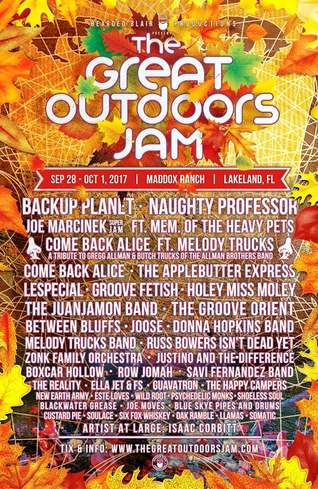 Great Outdoors Jam Lineup 2017