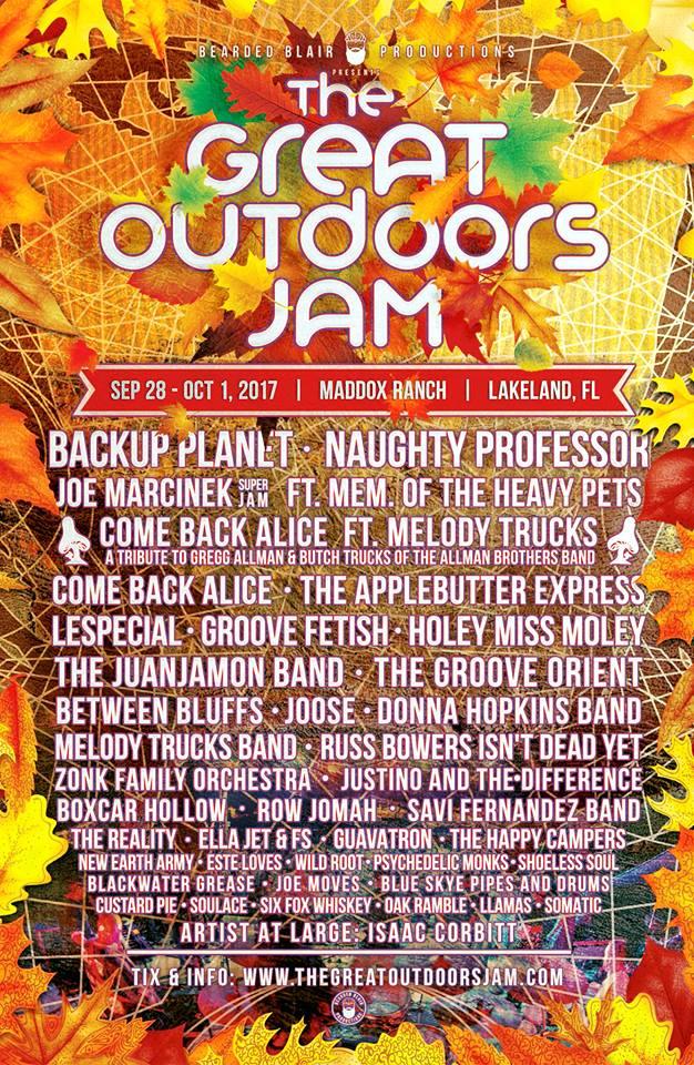 Great Outdoors Jam Lineup 2017