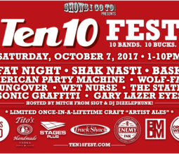 Ten 10 Fest Lineup 2017 Lineup With Sponsors NEW 8-24-17