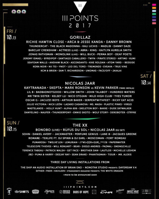iii points 2017 daily lineup