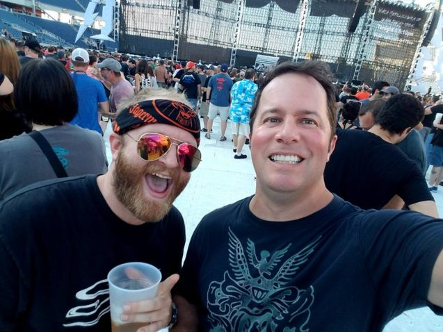 Richie and brother at Metallica Orlando 2017
