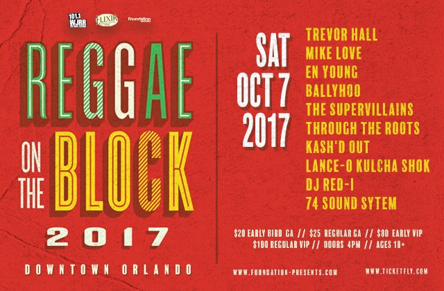 REGGAE ON THE BLOCK 2017 LINEUP
