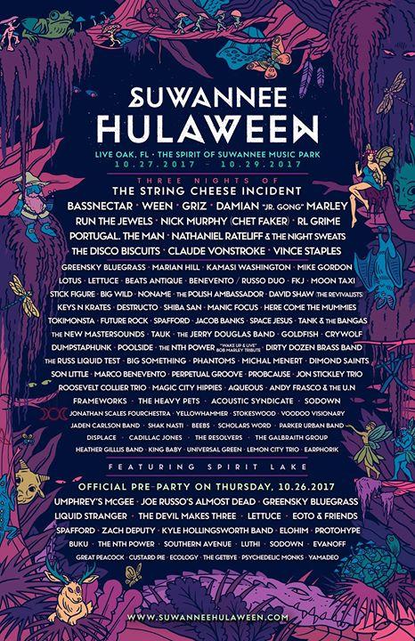 Hulaween 2017 Full Lineup