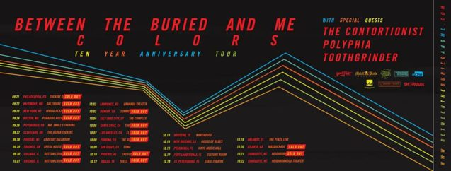 Between The Buried And Me Tenth Anniversary Tour