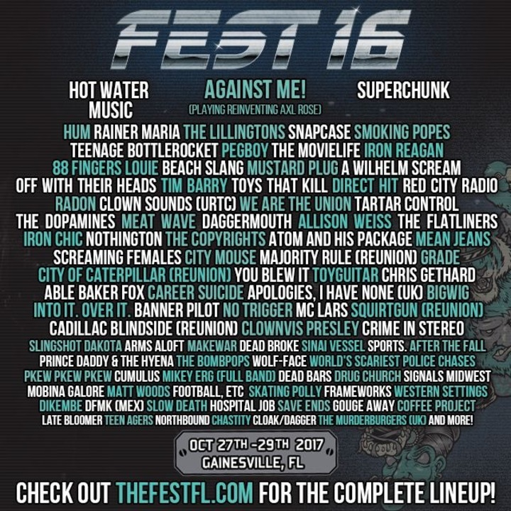 FEST 2017 Ticket Giveaway Lineup
