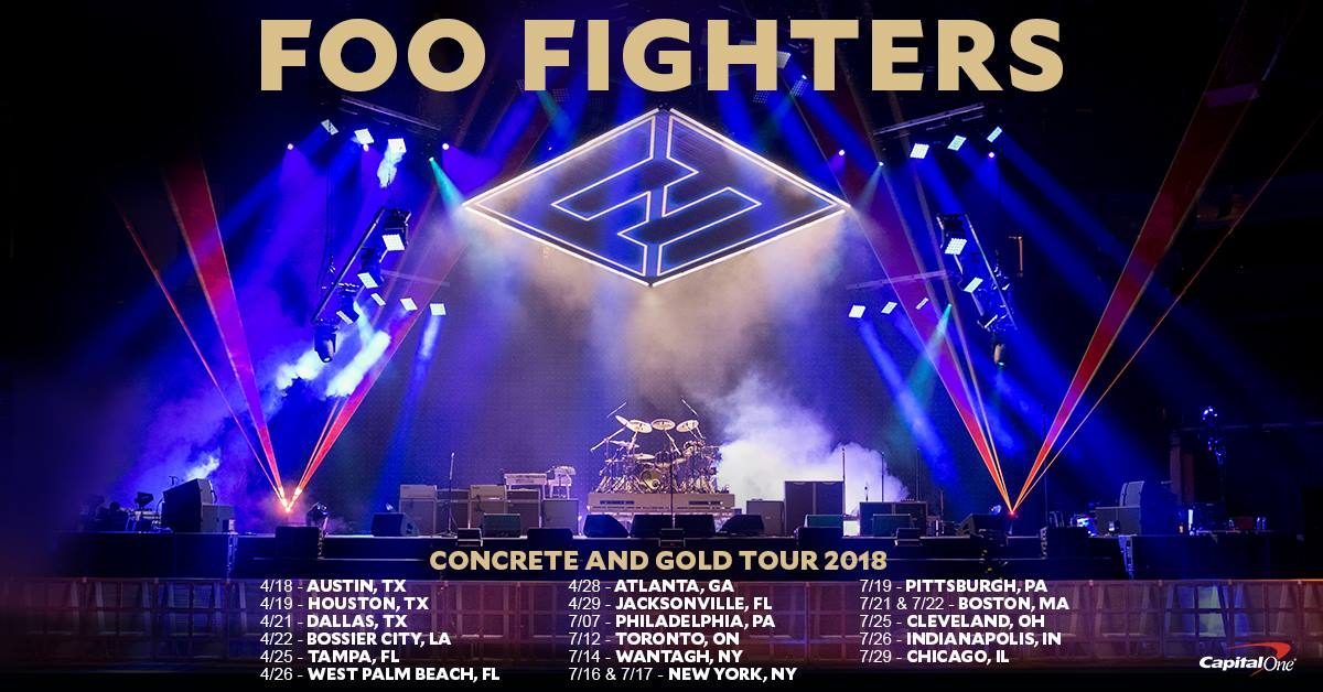 FOO FIGHTERS FLORIDA DATES 2018.