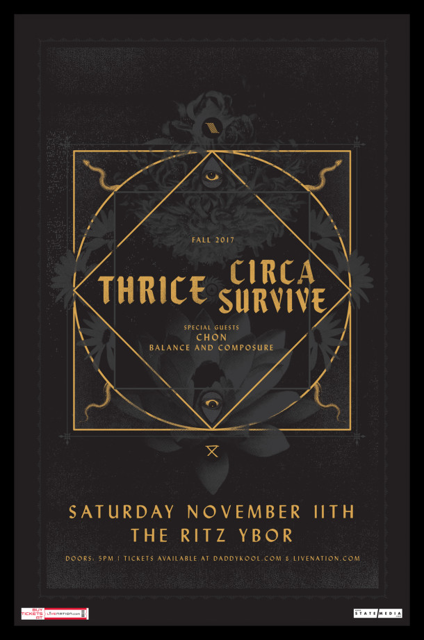 Thrice & Circa Survive, Chon, Balance & Composure Tampa 2017