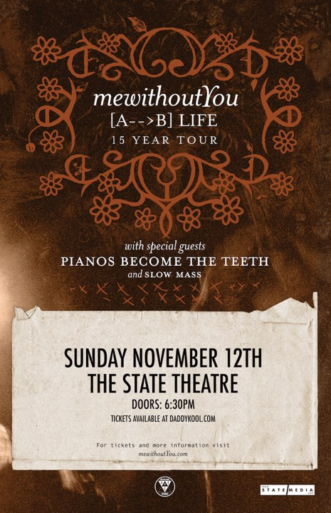 mewithoutYou Tampa 2017 Tour
