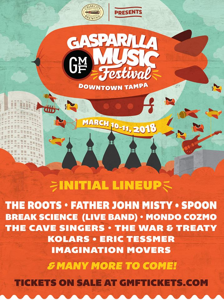 Gasparilla Music Fest 2018 Lineup Announcement