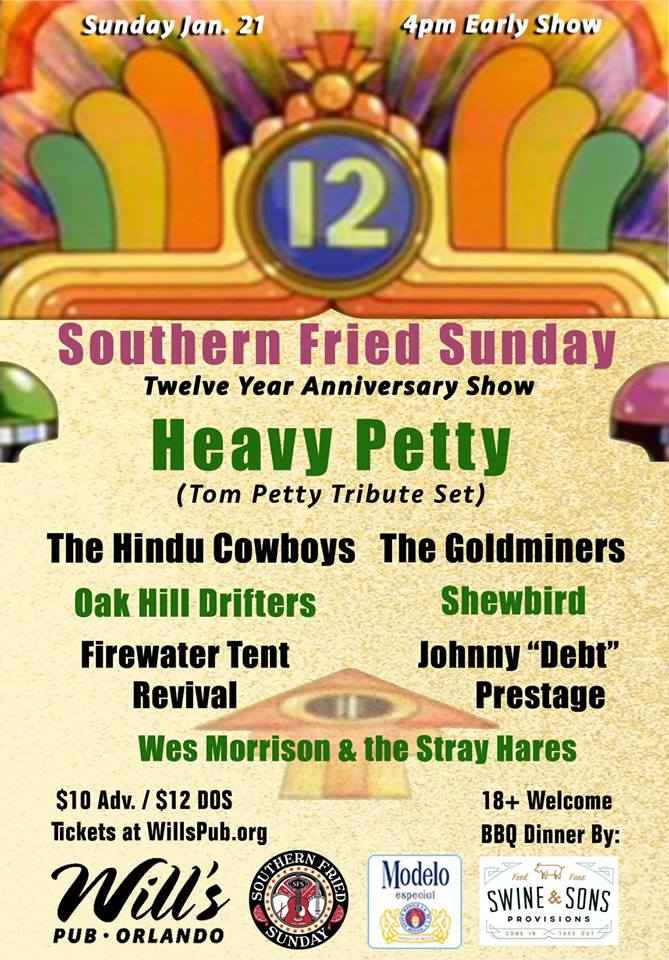 Southern Fried Sunday Heavy Petty Will's Pub Orlando FL