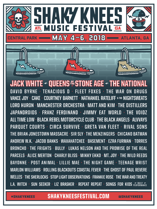 Shaky Knees Music Festival Lineup 2018
