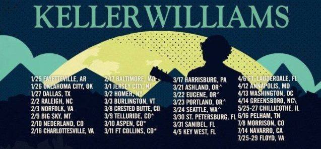 Keller Williams winter tour 2018