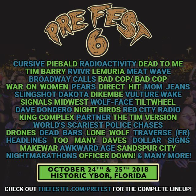 PRE-FEST 6 Ybor City Tampa Lineup 2018