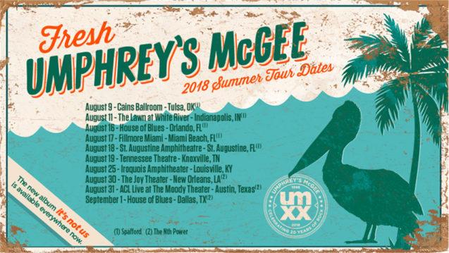 Umphrey's McGee Summer Tour 2018 Spafford The Nth Power