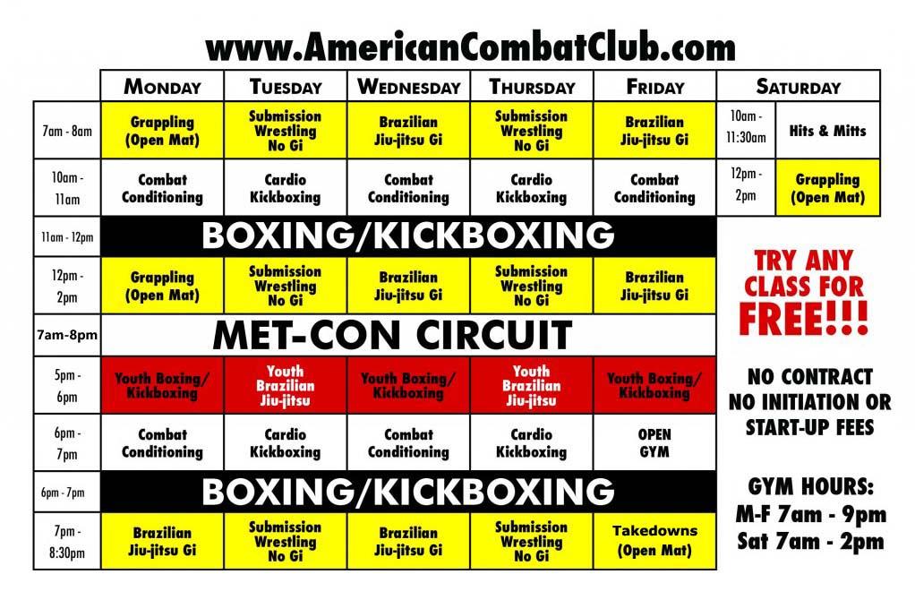 Best MMA Gym Downtown Orlando Schedule