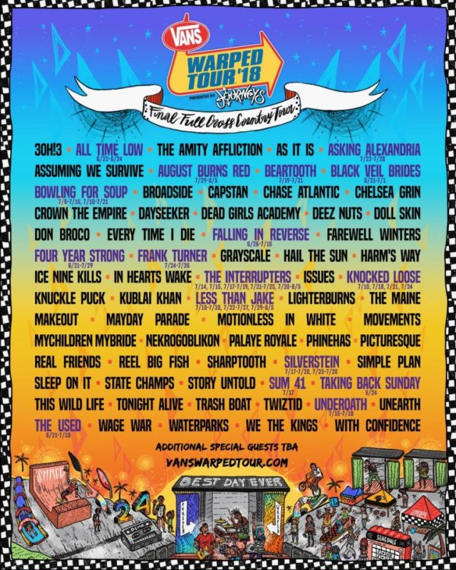Vans Warped Tour Tampa 2018
