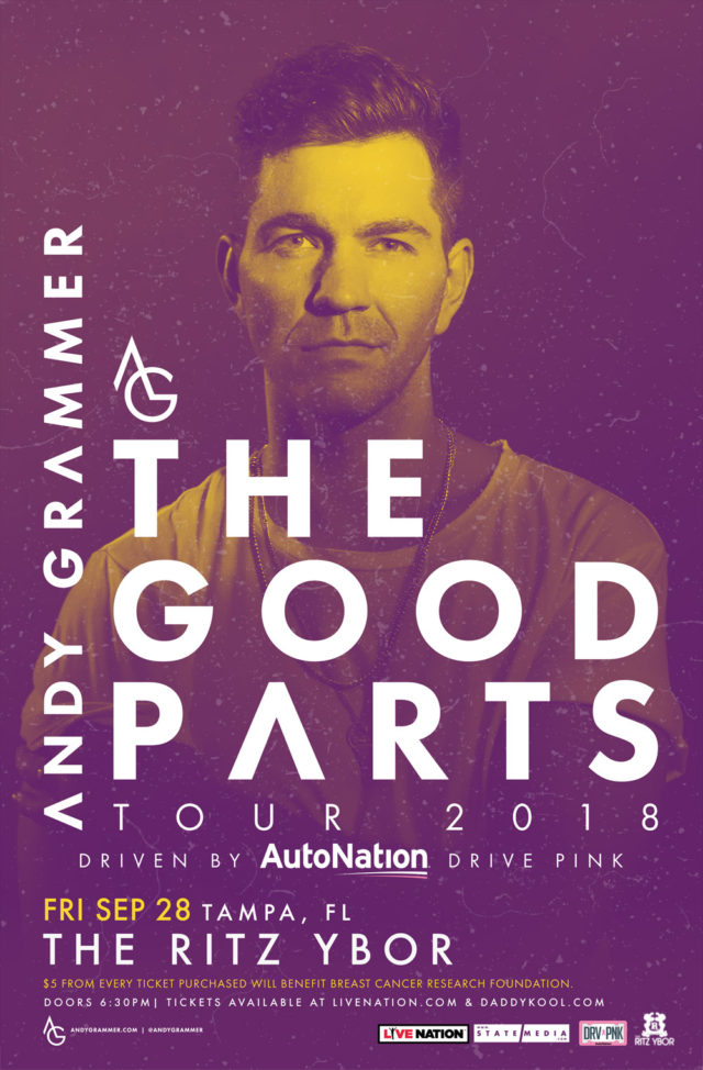 Andy Grammer Tickets Tampa 2018